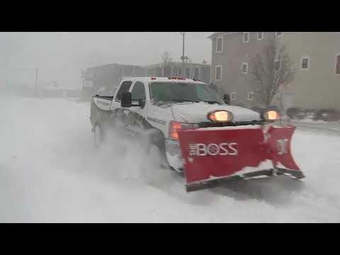 Blizzard dumps heavy snow in Wildwood, New Jersey