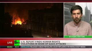CNN & RT News  Learning English June 26 2015 Israel, Palestine both committed War Crimes in 2014 con