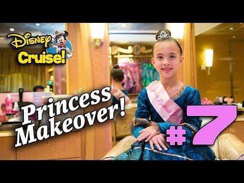 PRINCESS MAKEOVER at SEA!!! Bibbidi Bobbidi Boutique on the Fantasy! Disney Cruise Adventure PART 7