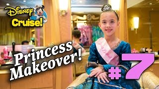 princess makeover at sea bibbidi bobbidi boutique on the fantasy disney cruise adventure part 7