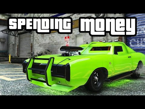 GTA 5 - SPENDING ALL THE MONAY - BUYING PROPERTY, AMAZING CAR, GARAGE, TATTOO