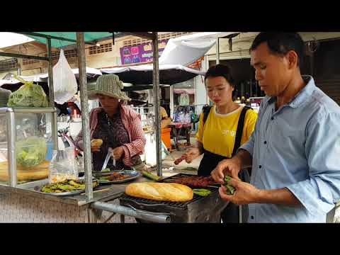 How to Sell food at Takhmao Market Let's visit Together/khmer food recipe