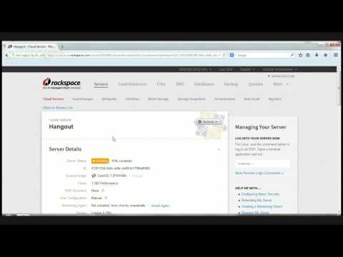 Rackspace Cloud Control Panel Walkthrough October 2014