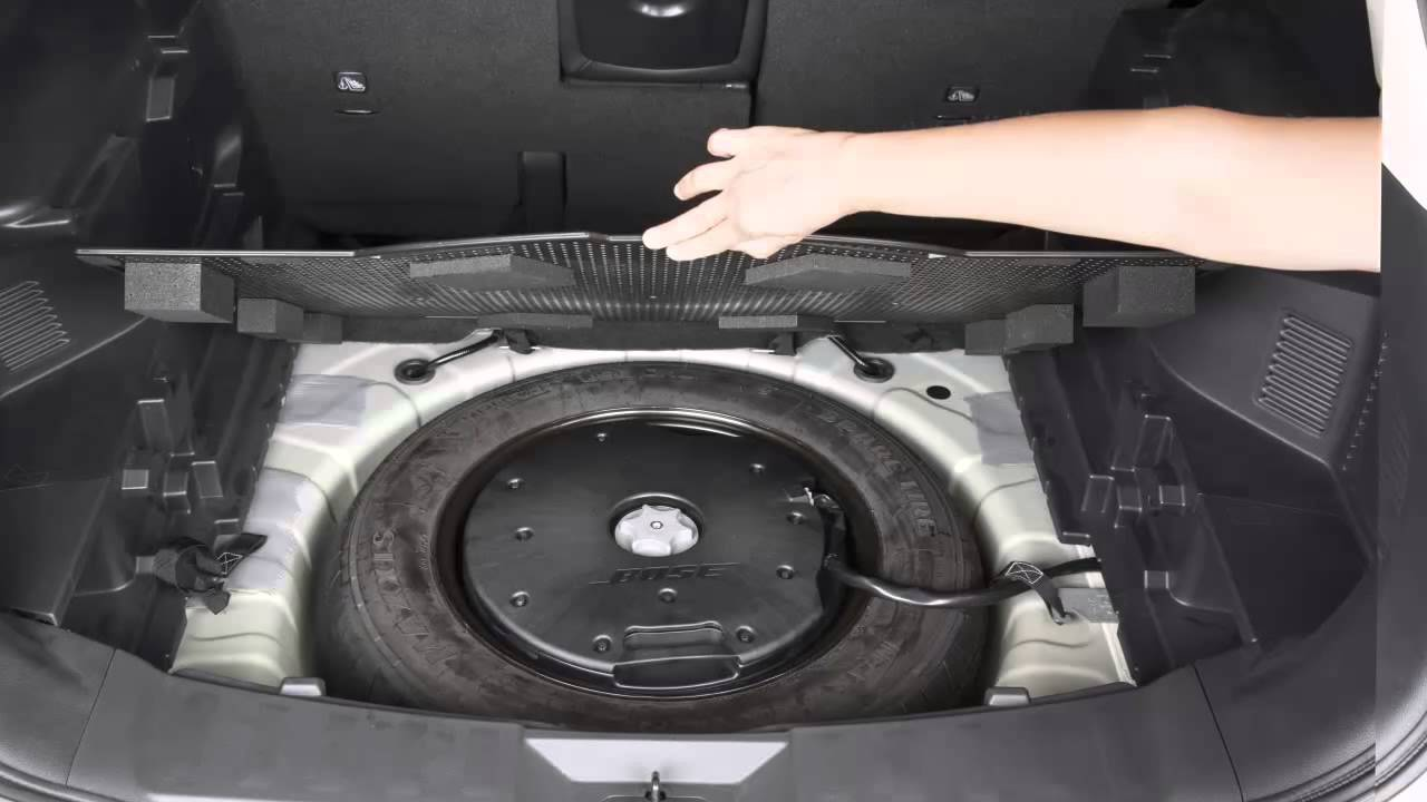 2015 nissan rogue - spare tire and tools