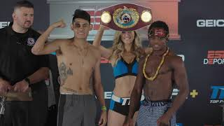 Emanuel Navarrete vs Isaac Dogboe Weigh In/ Face off