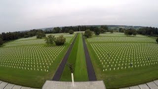 Some aerial video clips shot above the henri chapelle american cemetery. approval to do this was given. is a tribute all fallen in second world war