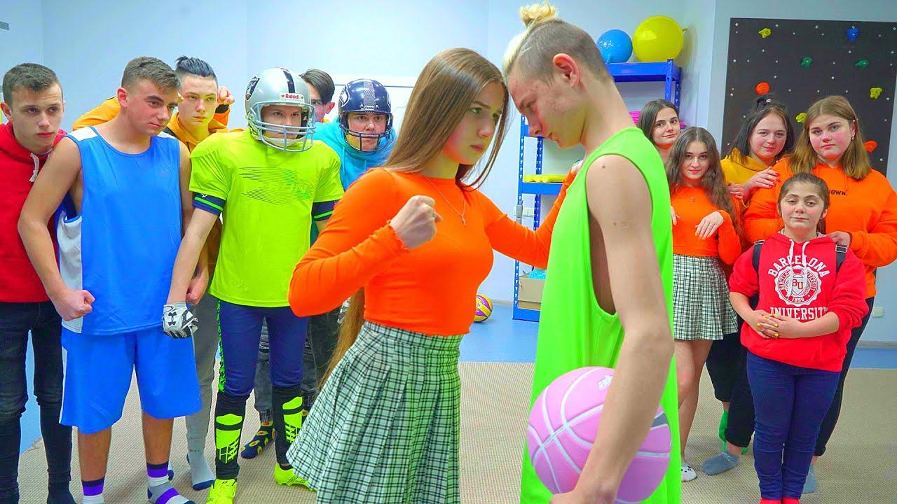 ¡Jugador de baloncesto Macho contra Diana Lady!