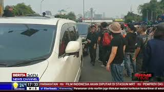 Demo Mahasiswa di DPR Mulai Masuk ke Tol Dalam Kota