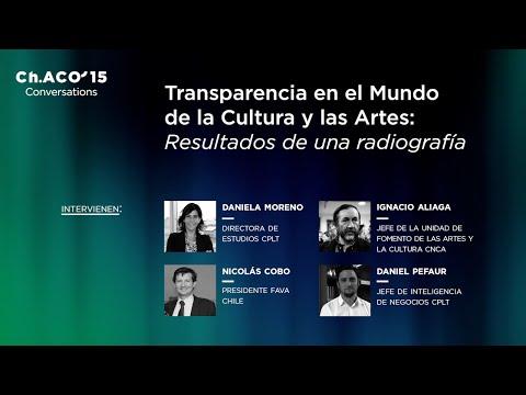 Ch.ACO´15: Transparencia en el Mundo de la Cultura y las Artes: Resultados de una radiografía
