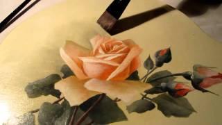 Pintura em estilo floral vitoriano