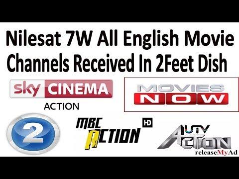 Nilesat 7W All English Movie Channels Ok  on 2Feet Dish