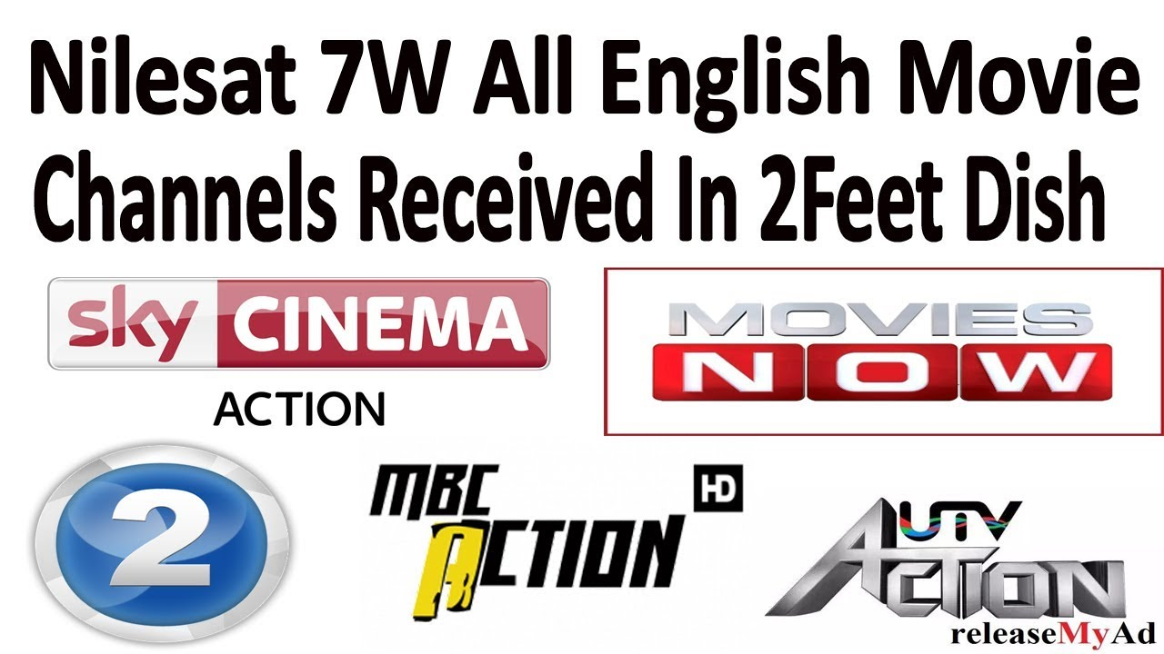 Nilesat 7W All English Movie Channels Ok on 2Feet Dish