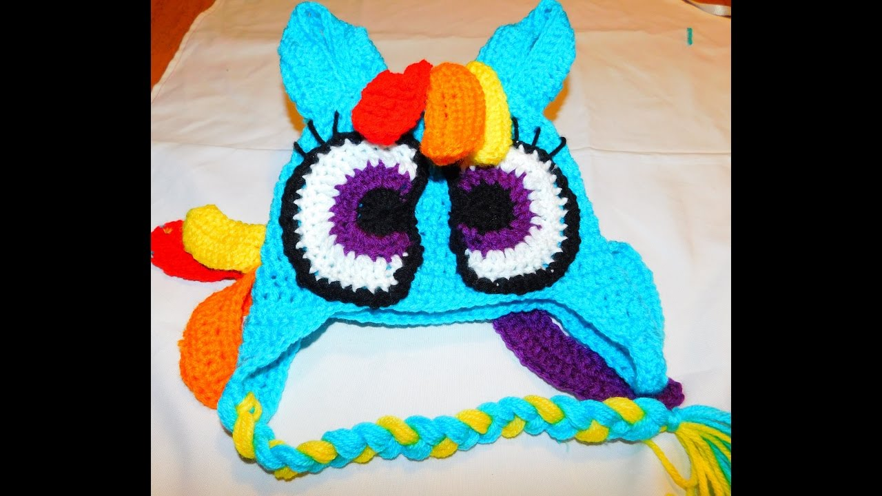 How To Crochet A My Little Pony Rainbow Dash Inspired Beanie Part1