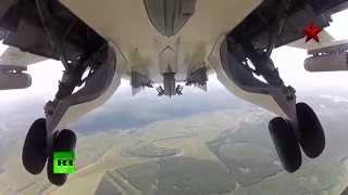 Stunning GoPro: Russian SU-24 combat attack drills