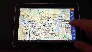OziExplorer Off Road Android Demo video Off Road Australian maps on Micro SD Samsung Galaxy Tablet Free HD Video