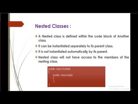 C# Beginner to advanced - Lesson 45 - Nested classes