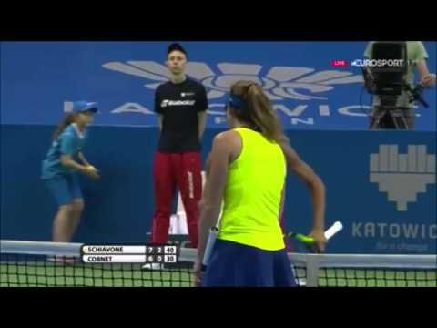 Stop volley eccezionale Francesca Schiavone WTA Katowice 2016
