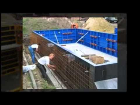 Betonnen zwembad mol htm youtube for Zelf zwembad bouwen betonblokken