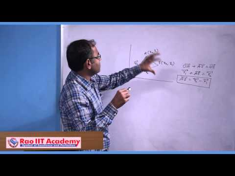 Position Vector, Displacement Vector and Resolution of a Vector - IIT JEE  Physics Video Lecture