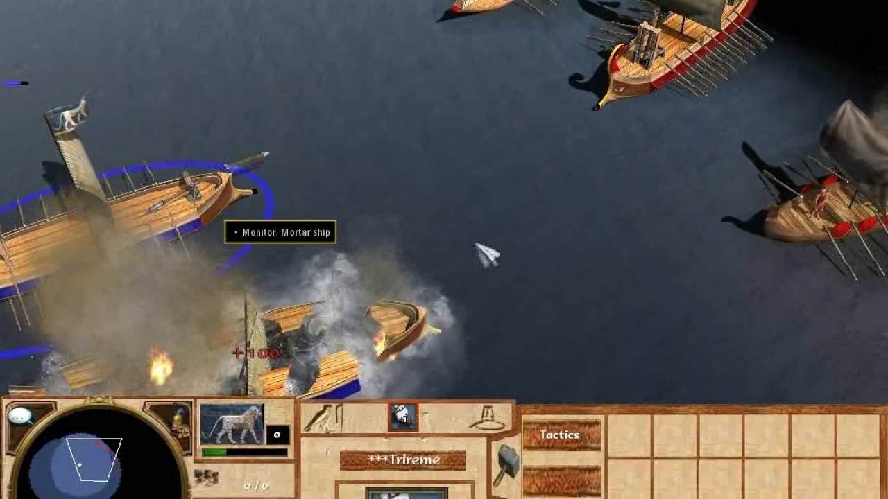 Age of Empires III Ancient naval battle (in mod Age of Empires I HD Edition)