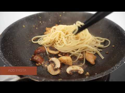 Aglio Olio With Chicken And Mushrooms