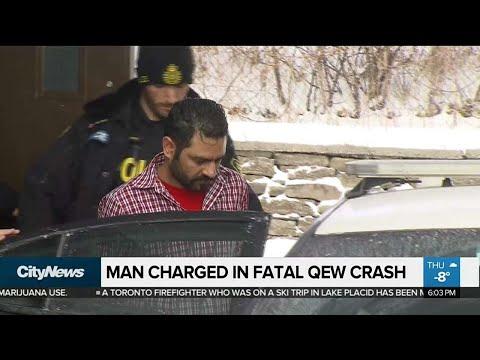Arrest made in QEW crash that killed woman