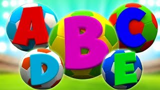 ABC Lied für Kinder | lernen Alphabet | Kinderreime | Soccer ABC Song in English