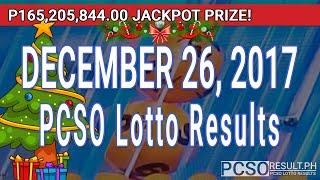 PCSO Lotto Results Today December 26, 2017 (6/58, 6/49, 6/42, 6D, Swertres, STL & EZ2)
