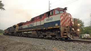[4K] Chasing NS 65E With An Extremely Rare BCOL C44-9WL Leader - Railfanning Northeast Ohio