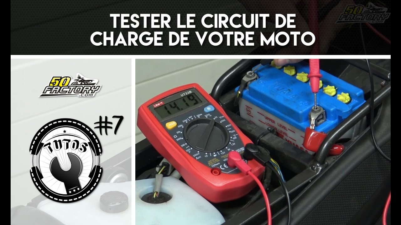 tuto 7 tester le circuit de charge de votre moto regulateur de tension centrale clignotante. Black Bedroom Furniture Sets. Home Design Ideas