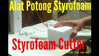 Alat pemotong styrofoam buatan sendiri dari senar gitar (homemade hot wire styrofoam cutter)