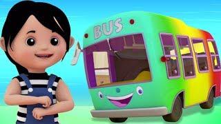 Колеса на автобусе   детские рифмы   автобусная песня для детей   The Wheels On The Bus   Baby Song