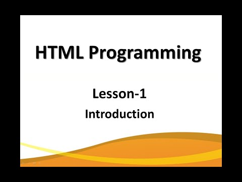 Design your website using HTML- Introduction thumbnail