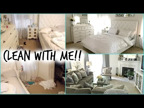CLEAN WITH ME Bedroom & Living Room