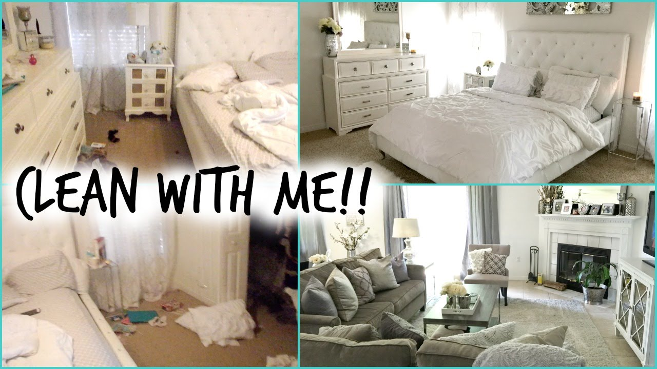 Clean with me bedroom living room youtube for Clean bedroom pictures