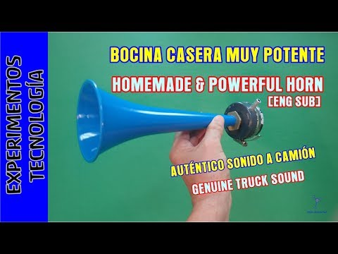How to make a powerful horn. Sounds like a truck or a train even a boat