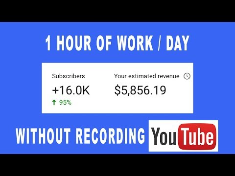 How To Make $5,856 On Youtube Without Making/Recording Any Videos In 2019