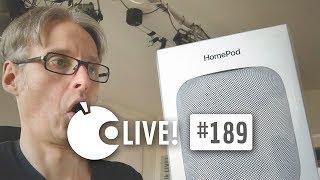 Apfeltalk LIVE! #189 - HomePod hautnah! Apples Lautsprecher im Hands On