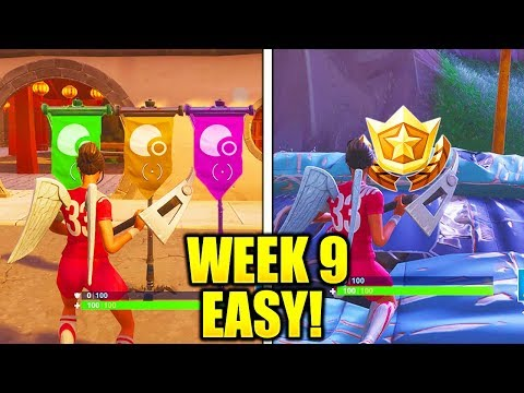 WEEK 9 CHALLENGES GUIDE FAST & EASY! ALL WEEK 9 CHALLENGES GUIDE FORTNITE TIPS AND TRICKS!