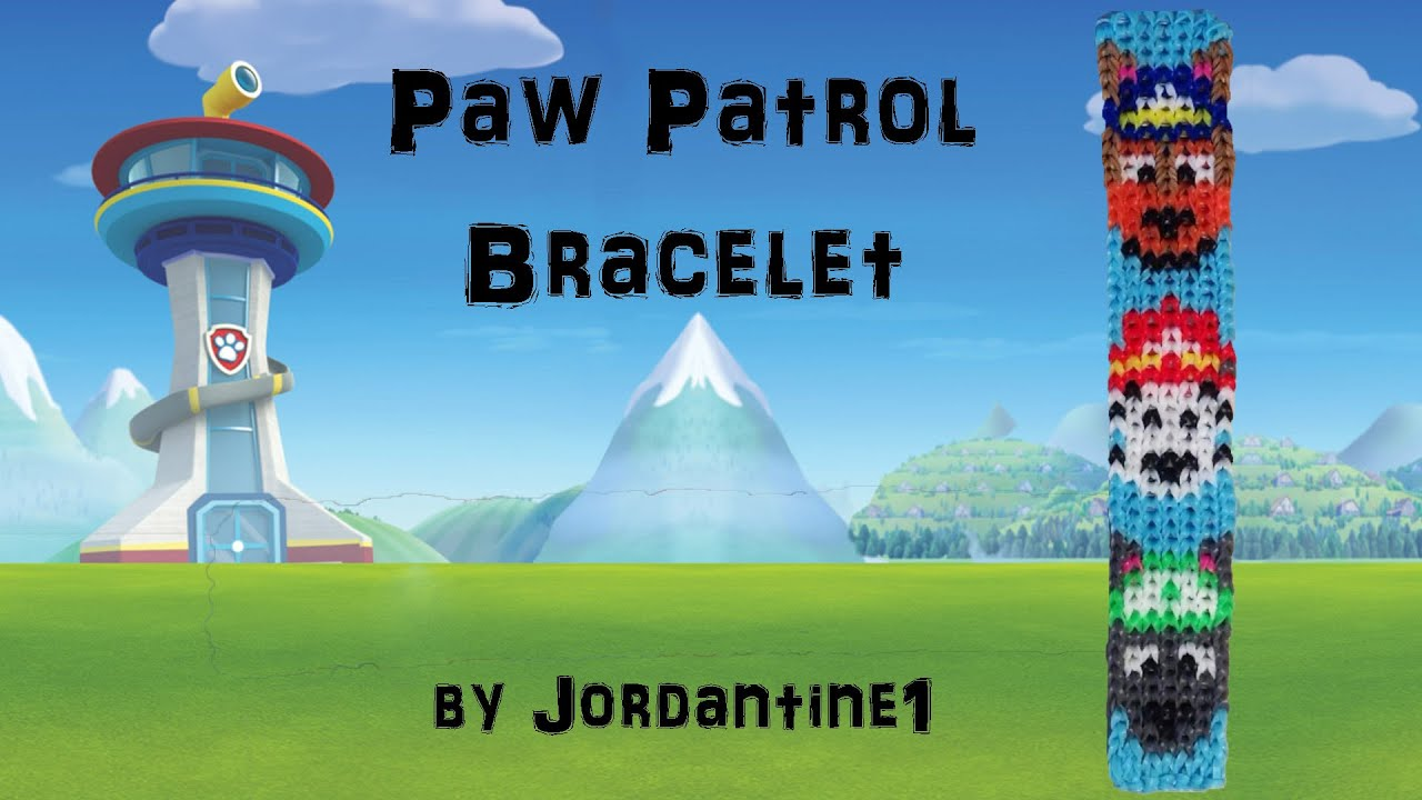 New Paw Patrol Dog Bracelet Alpha Loom Rainbow Police German Shepherd Firefighter Dalmation