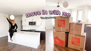 MOVING VLOG: Move in with me + Unpacking + Decorating my first apartment | Apartment Tour