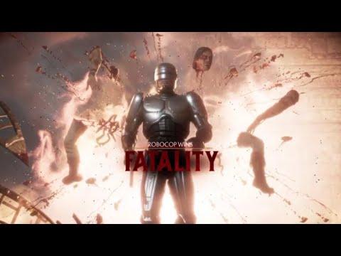 MK11 Robocop All Fatalities Brutalities and Story Ending |