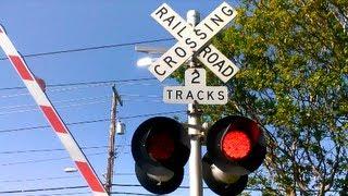 Railroad Crossing at 59th Street - SACRT Light Rail #217 at 59th Street Station
