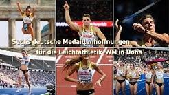 Sechs deutsche Medaillenhoffnungen für die Leichtathletik-WM
