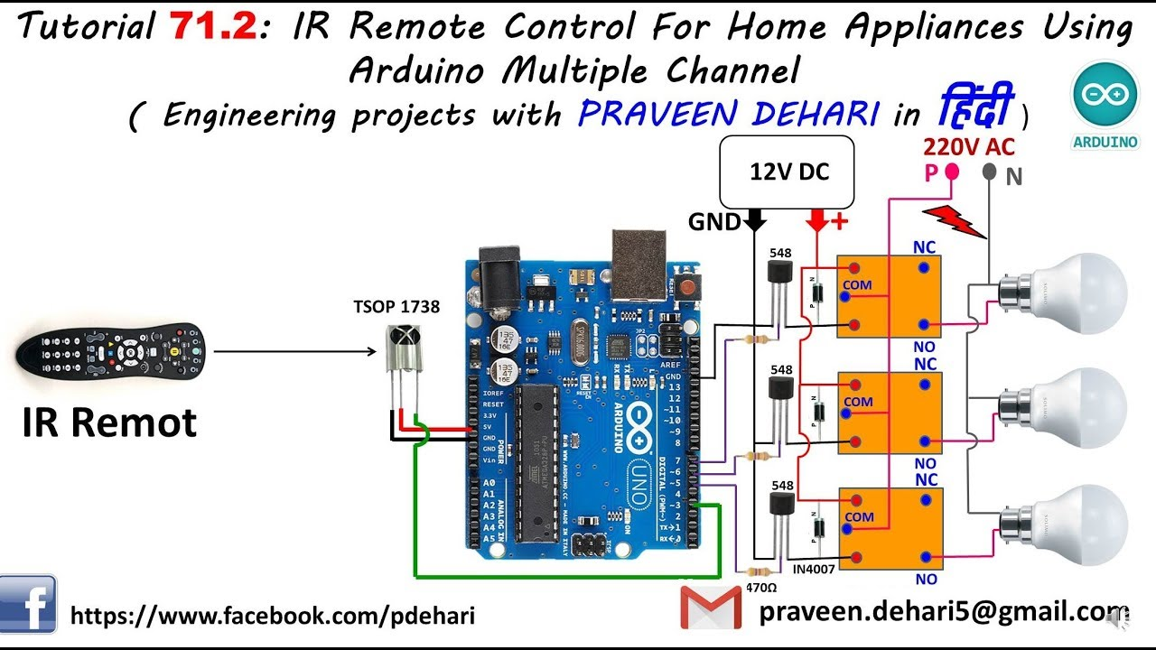 Ir remote control for home appliances using arduino