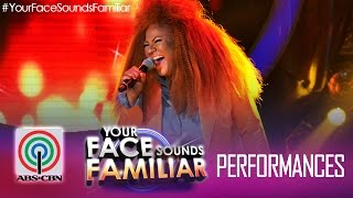 "Your Face Sounds Familiar: Karla Estrada as Chaka Khan - ""Through the Fire"""
