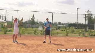 Теннис. Уроки А. Меринова и С. Подоляк. Ошибки при подаче.