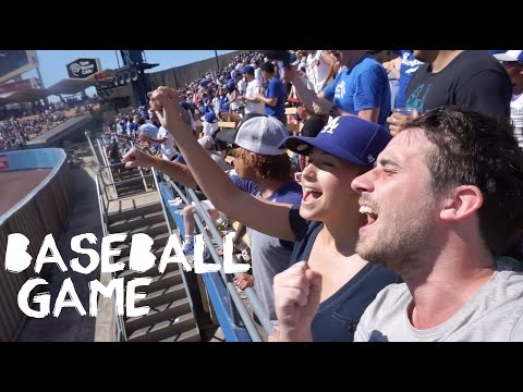 All You Can Eat At Baseball Game - LA Dodgers, California - Travel Vlog