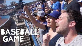 All You Can Eat At Baseball Game - LA Dodgers, California - Travel Vlog