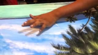 shameen moosa live painting at maldives airport